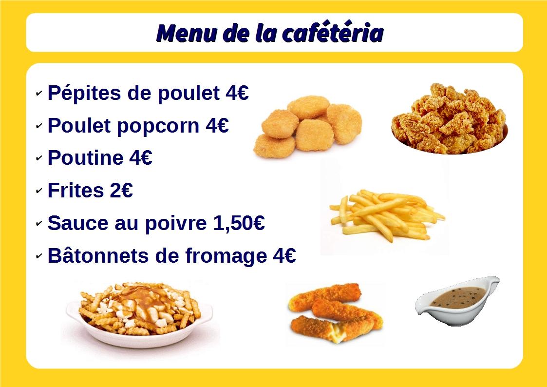 menu cafet annuel