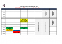 Planning hors glace semaine 48