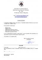 convocation AGO 20212022
